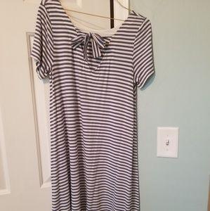 Bow back swing dress, knee length